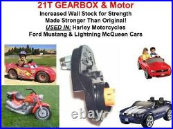 15T 18V GEARBOX & MOTOR FITS POWER WHEELS GraveDigger Hurricane and many others