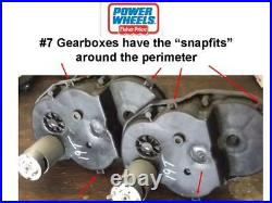 1x NEW GEAR #4 38T Fisher Price Power Wheels #7 Gearbox (OLD STYLE WithSNAP FITS)
