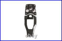 2×Real Carbon Fiber Gear Shift Box Panel Cover Trim Fit For Ferrari 458 2011-16
