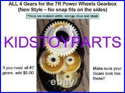 4X DYNATRAX ALSO FITS Power Wheels Gearbox GEAR 4, GEAR 3, GEAR 2 & GEAR 1