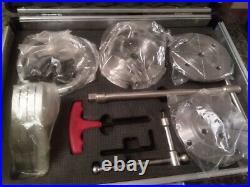 4 Jaw Geared Scroll Wood Lathe Chuck box Set 115mm + adaptor fits 3/416tpi +m33