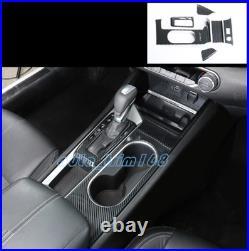 6PCS Carbon Fiber Car Gear Shift Box Panel Trim Fit For Nissan Teana Altima 2019