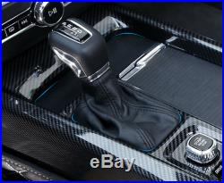 ABS Carbon Fiber Fits 2018-2019 Volvo XC60 Inner Gear Shift Box Panel Cover Trim