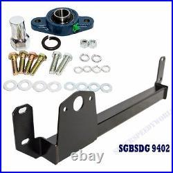 BLACK Steering Gear Box Stabilizer Bar fits 94-02 Dodge RAM 1500 2500 3500 4WD