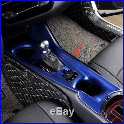 Blue ABS Inner Gear Shift Box Panel Cover Trim Fits For Toyota C-HR CHR 2016-18