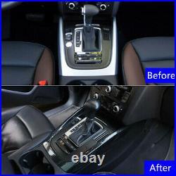Carbon Fiber ABS Gear Shift Box Panel Cover Trim Fit For Audi Q5 2010-2017