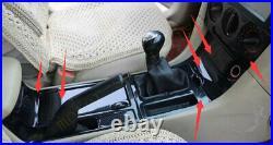 Carbon Fiber Center Console Gear Shift Box Panel Cover Fit For Mazda 3 2004-2009