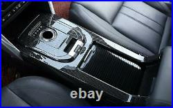 Carbon Fiber Gear Shift Box Panel Trim Fit For Land Rover Discovery Sport 15-19