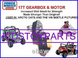 Dynatrax Also Fits Power Wheels 17t #7r Arctic Cat Gearbox Transmission & Motor