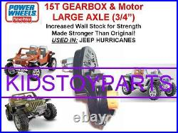 Dyntrax Also Fits Power Wheels 15t Large Axle Jeep Hurricane Gearbox & Motor