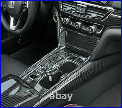 Fit For Honda Accord 2018-2020 Middle Console Gear Box Panel Trim Carbon Fiber