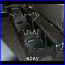 Fits 14-18 Silverado/Sierra Crew Black Gearbox Under Seat Storage Organizer Box