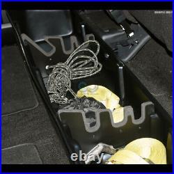 Fits 99-16 F250/F350 Superduty Crew Blk Gearbox Under Seat Storage Organizer Box
