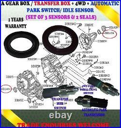Fits Nissan Navara D40 Gearbox Transfer Box Sensor Switch Front Rear Seals Kit