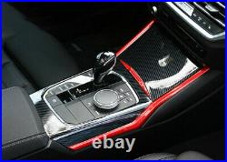 For BMW 3 Series G20 2019-2021 Red+Carbon Fiber Gear Box Shift & Cup Panel Cover