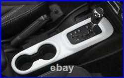 For Jeep Wrangler JK 2011-2017 ABS White Inner Gear Box Shift Panel Cover Trim