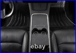 For Tesla Model 3/Y 2020-2021 Black Suede Inner Gear Shift Box Panel Cover 2pcs