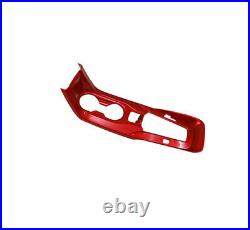 For Toyota Corolla 2019-2021 Red ABS Inner Gear Box Shift Panel Decor Cover Trim