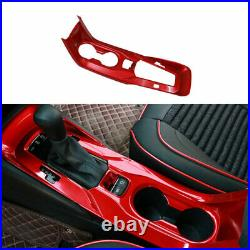 For Toyota Corolla 2019-2021 Red ABS Inner Gear Shift Box Panel Cover Trim 1pcs