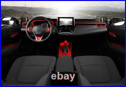 Inner Gear Box Shift Panel Decoration Trim Red Fit For 2019-2021 Toyota Corolla
