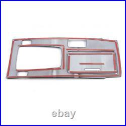 Interior 4pcs Carbon Fiber Gear Shift Box Cover Trim Fit for Honda Accord 14-17