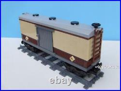 New Custom Built Box Car Train Built With New Lego Bricks Fits 10194 Emerald Night