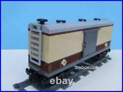 New Custom Built Box Car Train Built with New Lego Bricks fits Emerald Night 10194