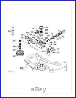 OEM Kubota Gearbox Repair Kit K5331-33100 K5341-33103 Fits RCK48-18BX RCK48-15BX