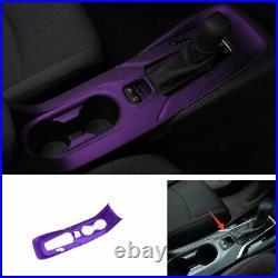 Purple Gear Box Shift & Cup Holder Panel Cover Trim For Toyota Corolla 2019-2021