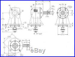 Replacement Rhino Finish Mower Gearbox Code 00775088 Fits BR60 & BR72