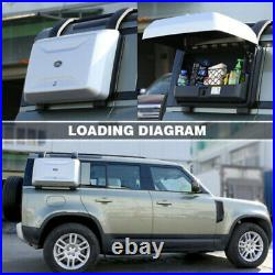 Silver Exterior Side Mounted Gear Carrier BOX Fits for LR Defender 2020 21 22