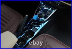 Steel Blue Gear Box Shift & Cup Holder Panel Cover For Toyota Corolla 2014-2018