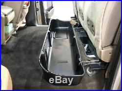 Underseat Storage Box Fits 09-14 Ford F150 Super Crew Cab Seat witho Subwoofer Blk