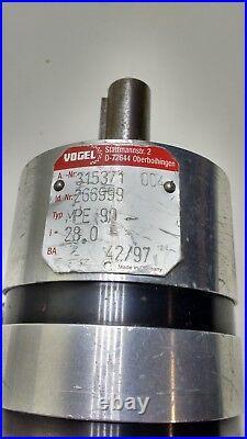 Vogel MPE 90 Servo Motor Planetary Gearbox /Gear Head 281 fits ABB/Baldor Motor